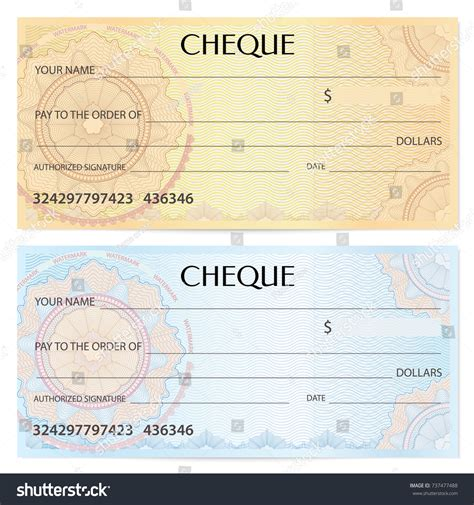bank note template check cheque chequebook template guilloche pattern stock