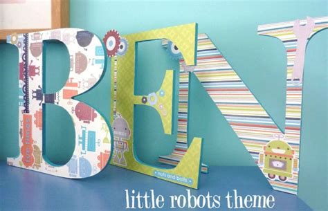 Decorated Wooden Letters For Nursery Handpainted And Decorated Wooden Letters Nursery Decor Boy Themes On Luulla