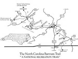carolina trail map trail overview ncbartramtrail org official website of