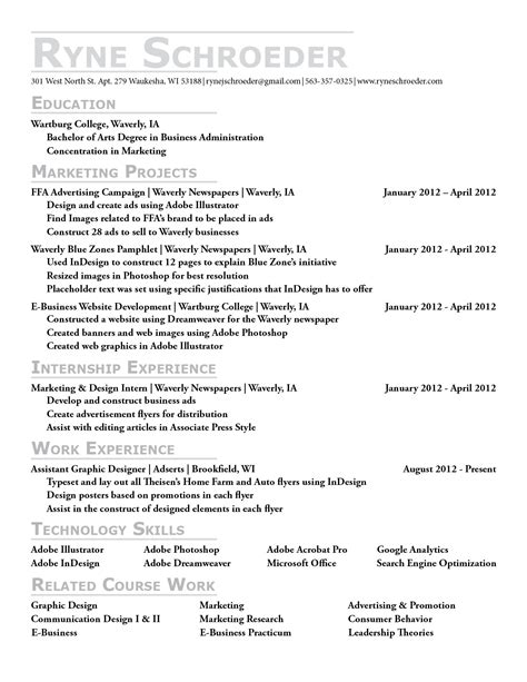 resume templates college sle new resume format 9 resumes exles