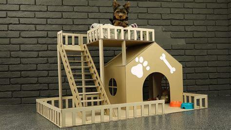 amazing puppy dog house  cardboard youtube