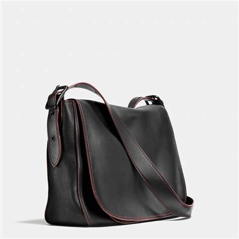 Coach Polgan Saddle Black Mahogany coach saddle bag messenger 38 in glovetanned leather for lyst
