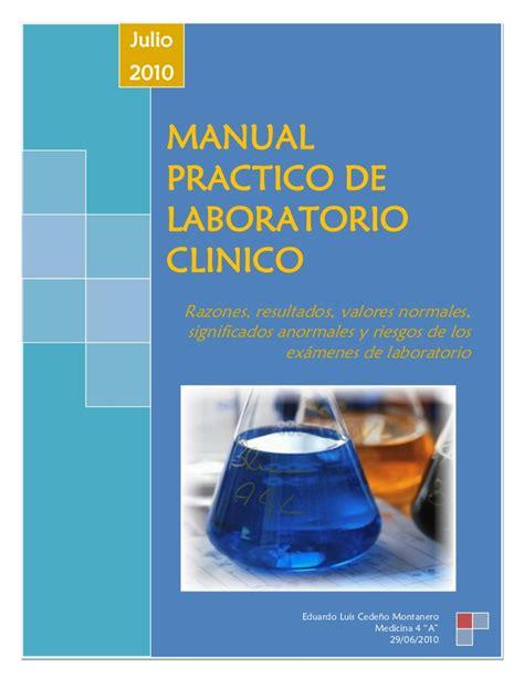 manual prctico de la manual practico de laboratorio clinico