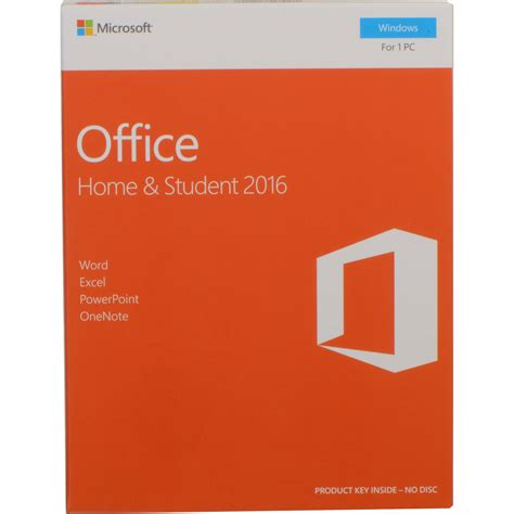 microsoft home office microsoft office home student 2016 for windows 79g 04589