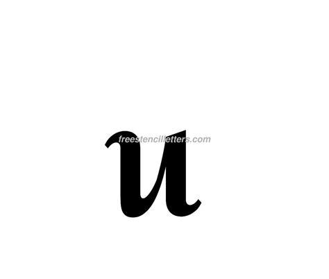 print lowercase u letter stencil free stencil letters