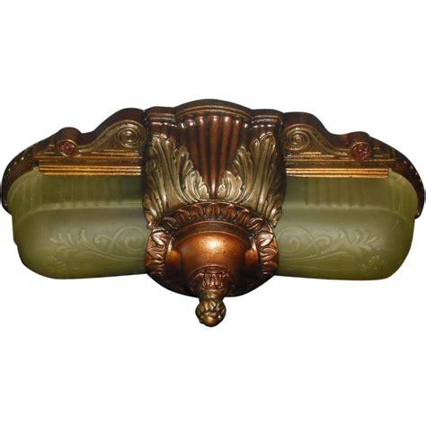 deco slip shade flush mount ceiling light fixture or