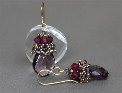 Earrings Beaded Handmade - sidonia s handmade jewelry beaded cap earrings