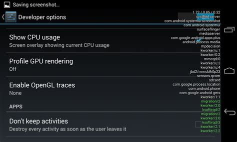 android cpu usage 8 things you can do in android s developer options