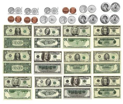 printable mini fake money monies printies pinterest