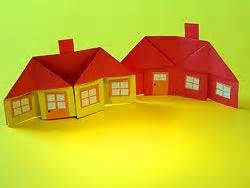 Origami Houses - origami paper toys and paper houses on