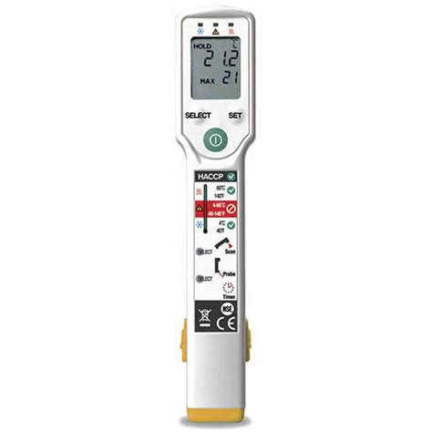 Fp 300 Food Probe Thermometer fluke fp plus foodpro food safety non contact ir thermometer lcd display contact probe 31