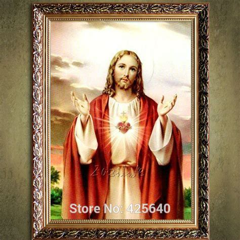 jesus home decor popular sacred heart painting buy cheap sacred heart