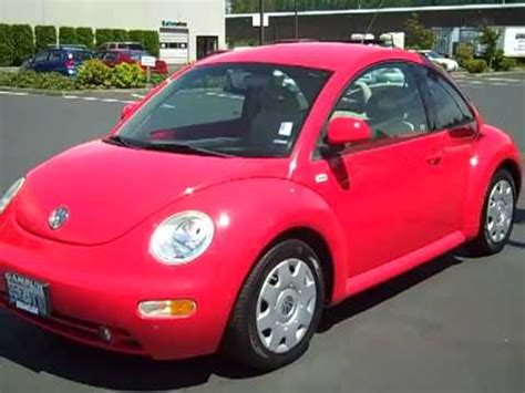 volkswagen new beetle red 2000 volkswagen beetle gls red manual enumclaw seattle