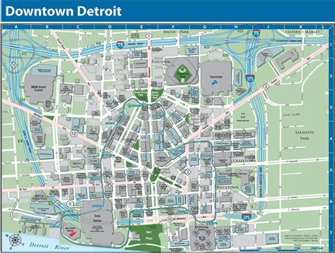 maps detroit detroit downtown map