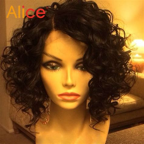 lace wig shorter hairstyles short curly lace front wigs with baby hair brazilian lace