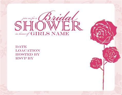 free bridal shower invitation templates to print bridal shower invitations template best