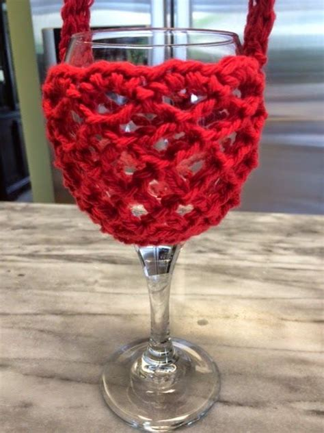 pattern for wine glass holder necklace hooked by heidi crochet wine glass holder with neck strap