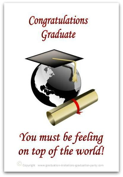 graduation card templates free printable graduation cards