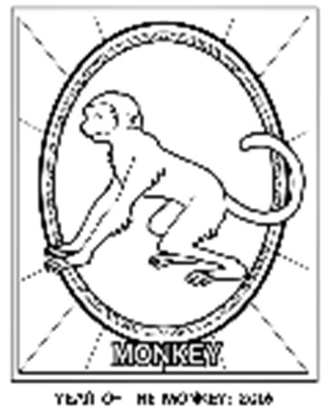 chinese monkey coloring pages chinese new year year of the ram crayola ca