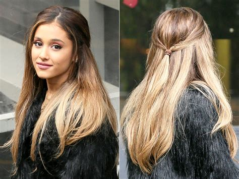 how to do the grande hairstyle ariana grande wears low pinned back hairstyle in london