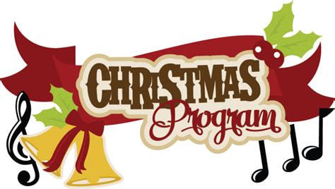 christmas program svg cutting files for scrapbooking