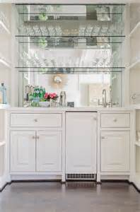 built in bar cabinets with sink stained bar cabinet with mirrored subway tile