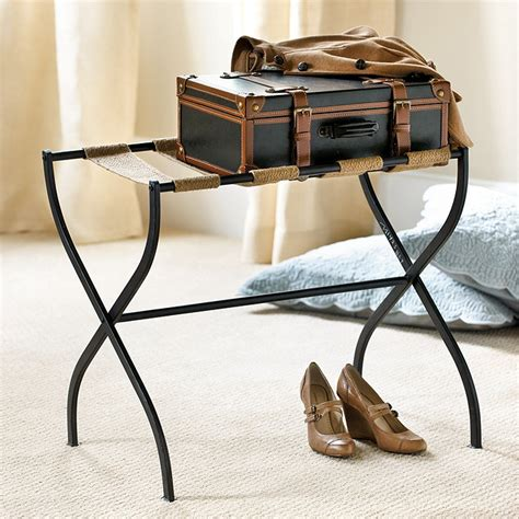 luggage racks for bedroom gaspar luggage rack furniture ballard designs