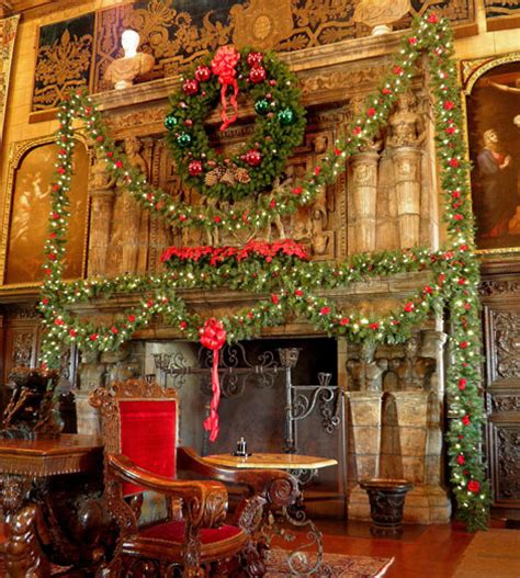 Christmas Decorations Luxury Homes christmas at hearst castle