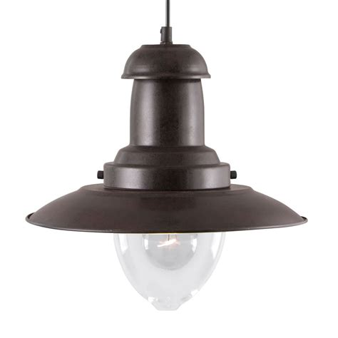 Glass Shade For Ceiling Light Fisherman Rustic Brown Ceiling Light With Clear Glass Shade 4301ru Stanways Stoves And Lights