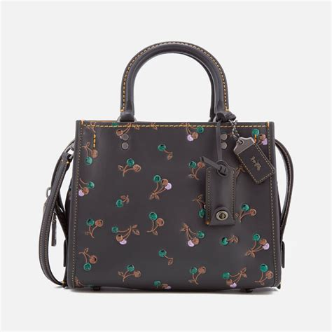 Accessorizes I Purse by Coach 1941 S Cherry Print Rogue Shoulder Bag Black