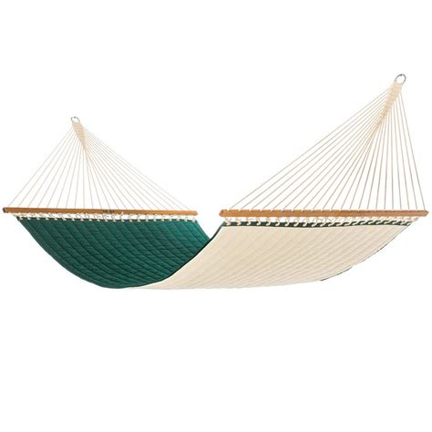 pawleys island 13 ft sunbrella quilted hammock in canvas
