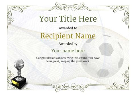 soccer certificate template free soccer certificate templates add printable badges