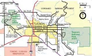 map of tuscon arizona directions saguaro national park u s national park
