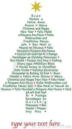 christmas  tree   languages royalty  stock photography image