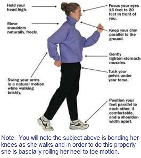 how to walk a walking properly