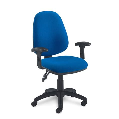 exercise office chair with armrests fleet office chair adjustable armrests blue aj products