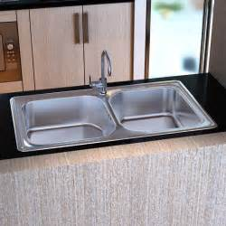 Kitchen Sinks Drains Vidaxl Co Uk Kitchen Sink Stainless Steel Square With Drain