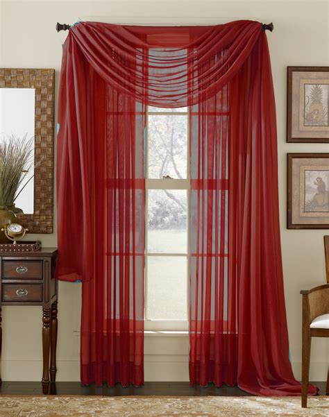 how to hang sheer scarf curtains red sheer curtain scarf moshells