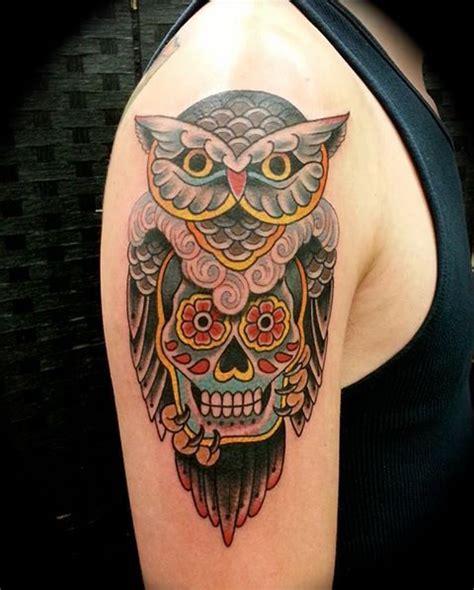 tattoo owl mexican 37 best classic sugar skull tattoo designs images on