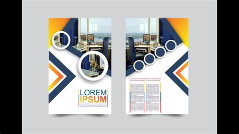 corel draw booklet layout coreldraw x7 tutorial modern flyers brochure design