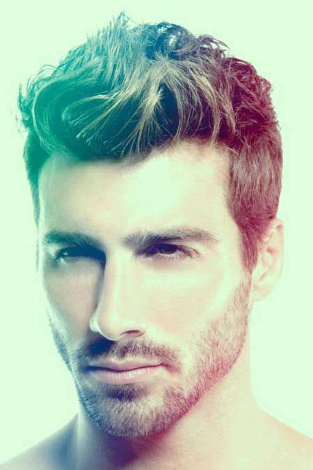 hairstyles short in back and long sides mens messy wavy hairstyle short on sides and long on top