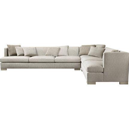 comfortmaster sofa social sectional baker furniture barbara barry