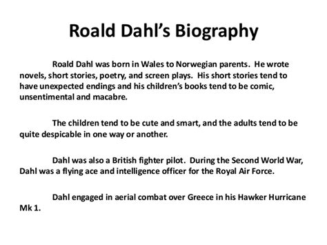 roald dahl biography for students happy birthday to roald dahl 1916 1990 this is dahl s