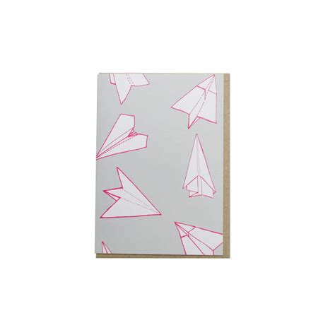 Origami Greeting Card - origami plane greetings card by sparrow wolf