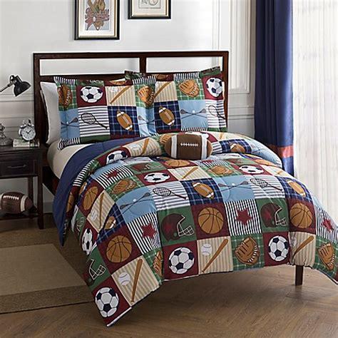 Sport Bed Sets Team Sport Comforter Set In Blue Bed Bath Beyond