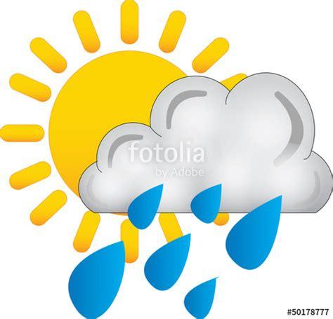 clipart pioggia quot sole nuvola pioggia icona meteo quot immagini e fotografie