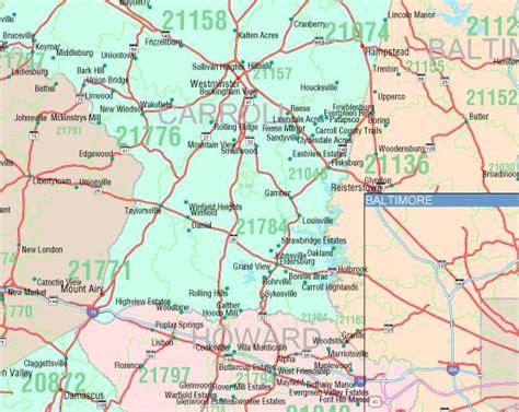 code md maryland zip code map