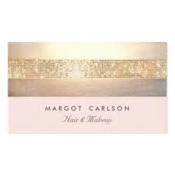 sequin business cards gold sequins light pink striped no shine