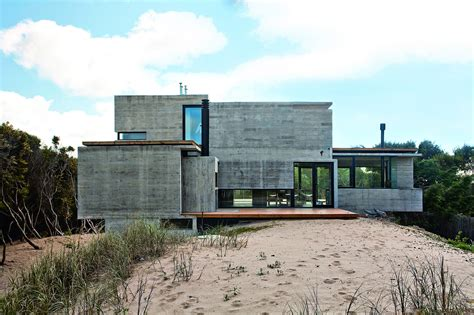 Concrete House Designs by Bare Concrete Beach House