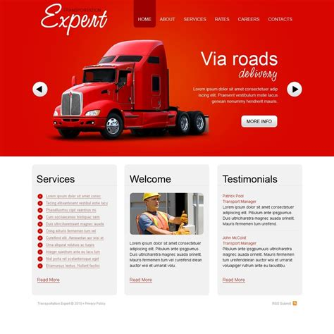 trucking website template 29079